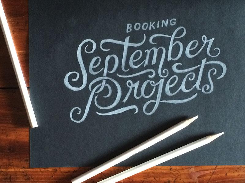 ATTN Art Directors! type lettering typography hand lettering black paper vintage swash ligature script sketch