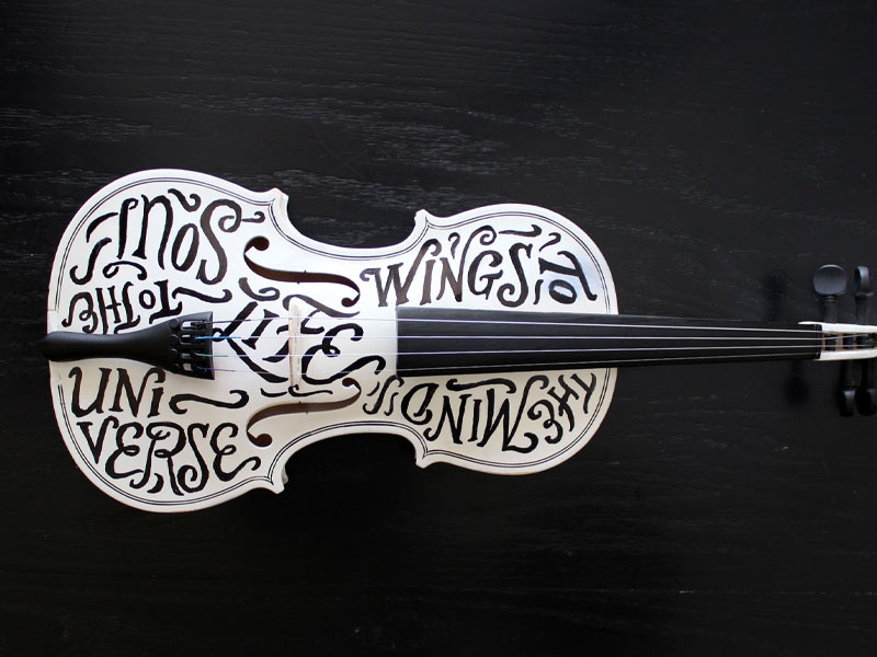 TypeLimited 001 type lettering typography hand lettering monochrome script violin music