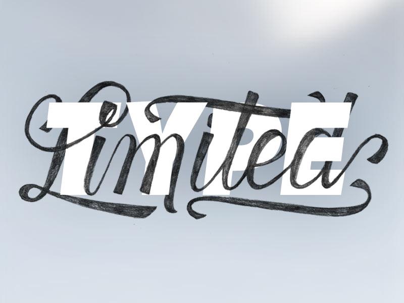 TypeLimited logo type lettering typography hand lettering script swash ligature logo logotype sans