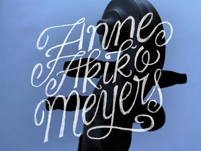 Anne Akiko Meyers lettering typography hand lettering swash script ligature violin music