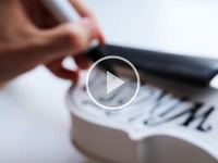 TypeLimited 001: Video type lettering typography hand lettering monochrome script violin music video art