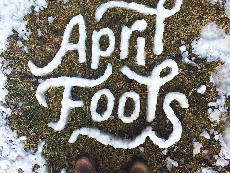 April Fools type lettering grass nature outdoors swash typography hand lettering snow monoline ligature