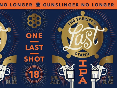 One Last Shot sports denver football super bowl design packaging beer typography type