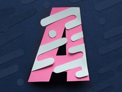 36 Days of Type - A type alphabet dimensional tactile handmade craft paper speed lettering typography