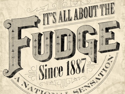 Fudge fudge typography victorian grunge ornate