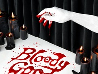 Happy Halloween! isometric bloody photography set design tactile tactile typography dimensional type lettering typography