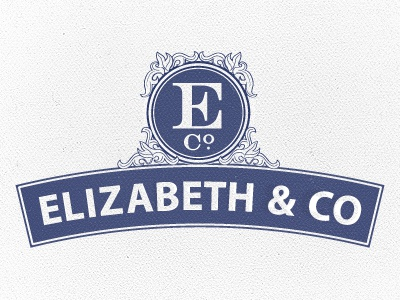 Elizabeth & Co. - Round 2 victorian confectionery chocolate candy logo seal monogram ampersand ornate humanist wip