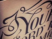 Your Word - Letterpress