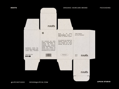 ROOTS - Packaging shampoo hair product beauty clean simple minimalistic brand identity packaging vector typography design branding logo graphic design