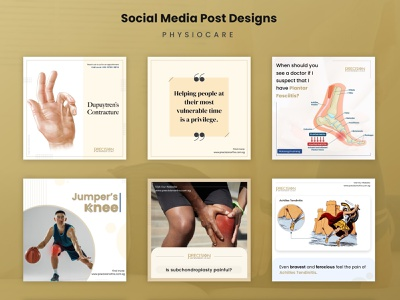 Social Media Post Design facebook instagram posts creatives gold colors graphics design uiux healthcare social media post design