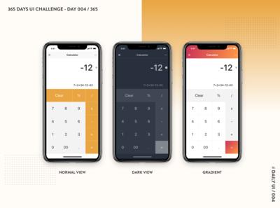 365 DAYS UI CHALLENGE-DAY 004 / 365