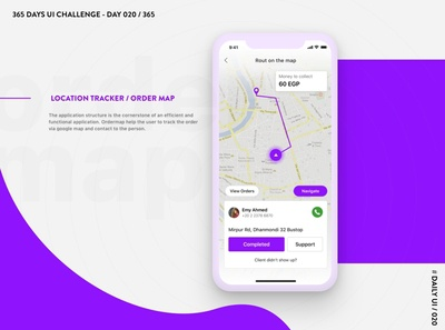 365 DAYS UI CHALLENGE - DAY 020 / 365 - Location Tracker / Order