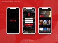 365 DAYS UI CHALLENGE | Day 25/365 | Netflix App Redesign