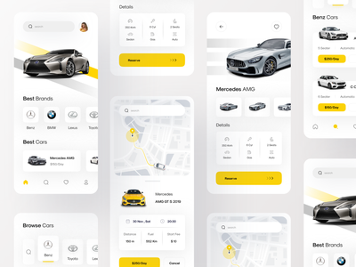 Car Rental App | Part 3 search graphic speed map green ios mercedes choose car ux booking logo airplanes bmw bill illustration ui book cards car rental car app