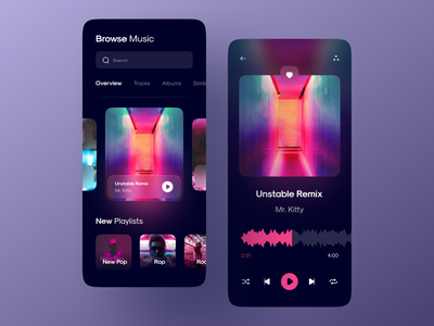 Music playe Dark mood modern figma clean player neumorphic design song playing cover playlist glassmorphism neumorphism neumorphic dark ui dark mode dark media player music player music app media music