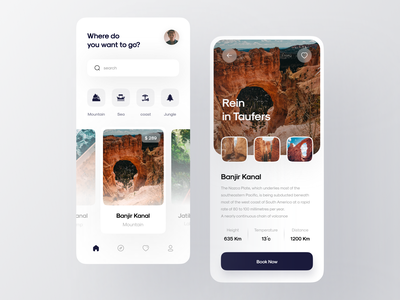 Travel Service Mobile App illustration app app design bookings booking app mobile app mobile app design mobile design mobile ui traveling travel app travel trip trips tours discover travelling ux ui