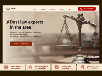 Law ux web shots design