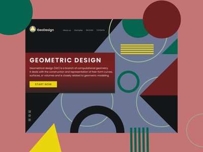 Geometric web design shot shots web design