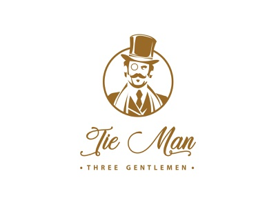 Logo design for Tie Man fashion brand vector illustration vector art vectorart vectors vector branding design brand logodesign logo design logos logo brand identity design branding minimal graphic design clean design clean brand design
