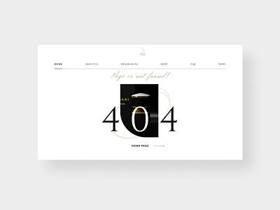 404 Error page. Luxury Perfumes, France brand design fragrances perfumes web designer beauty website 404 error page 404 page black gold luxury design landing webdesign webdevelopment uiuxdesign website design landingpage