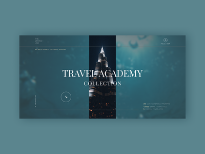 Web design for Travel Academy Dashboard, The Minted Lab web designer modern uxui uiux travel blue dashboard first screen design website landingpage uiuxdesign webdevelopment create website website design