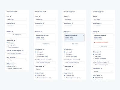 Graph builder: States graphs dashboad saas application monitoring application web user interface user experience ui front-end development design app ux