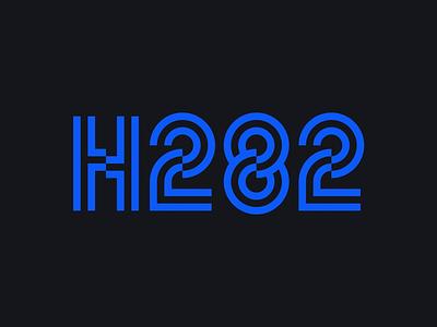H282 - logo design bauhaus typeface type simple graphic design minimalism font typography minimal logo