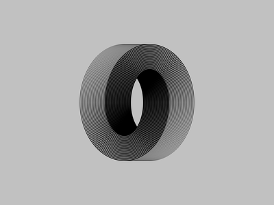 Infinite O line lineart lines simple minimal font typography art typography lettering infinite infinity