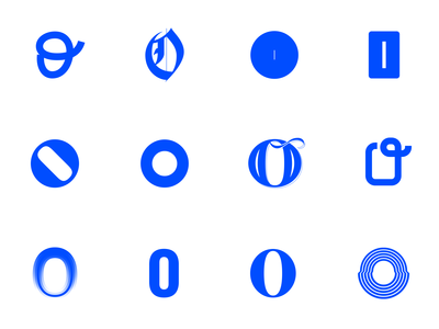 Letter O - various styles
