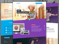 Rdio Landing Page