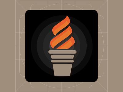 Torch App Icon logo illustration flashlight ui app icon