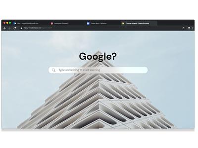 Search branding design minimal ui search bar chrome dailyui 022 google search