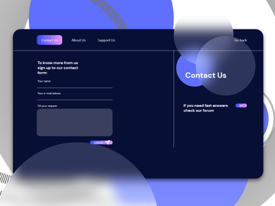 Contact Us gradient blue 28 dailyui 028 contact form contact us