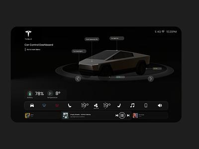 Cybertruck Interface interface minimal card logo tesla glassmorphism ui