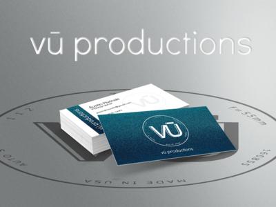 vū productions Business Cards