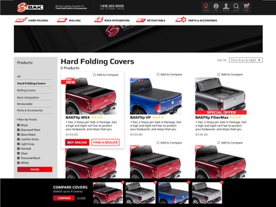 BAK Compare Tool catalogue promos product page compare tool compare products