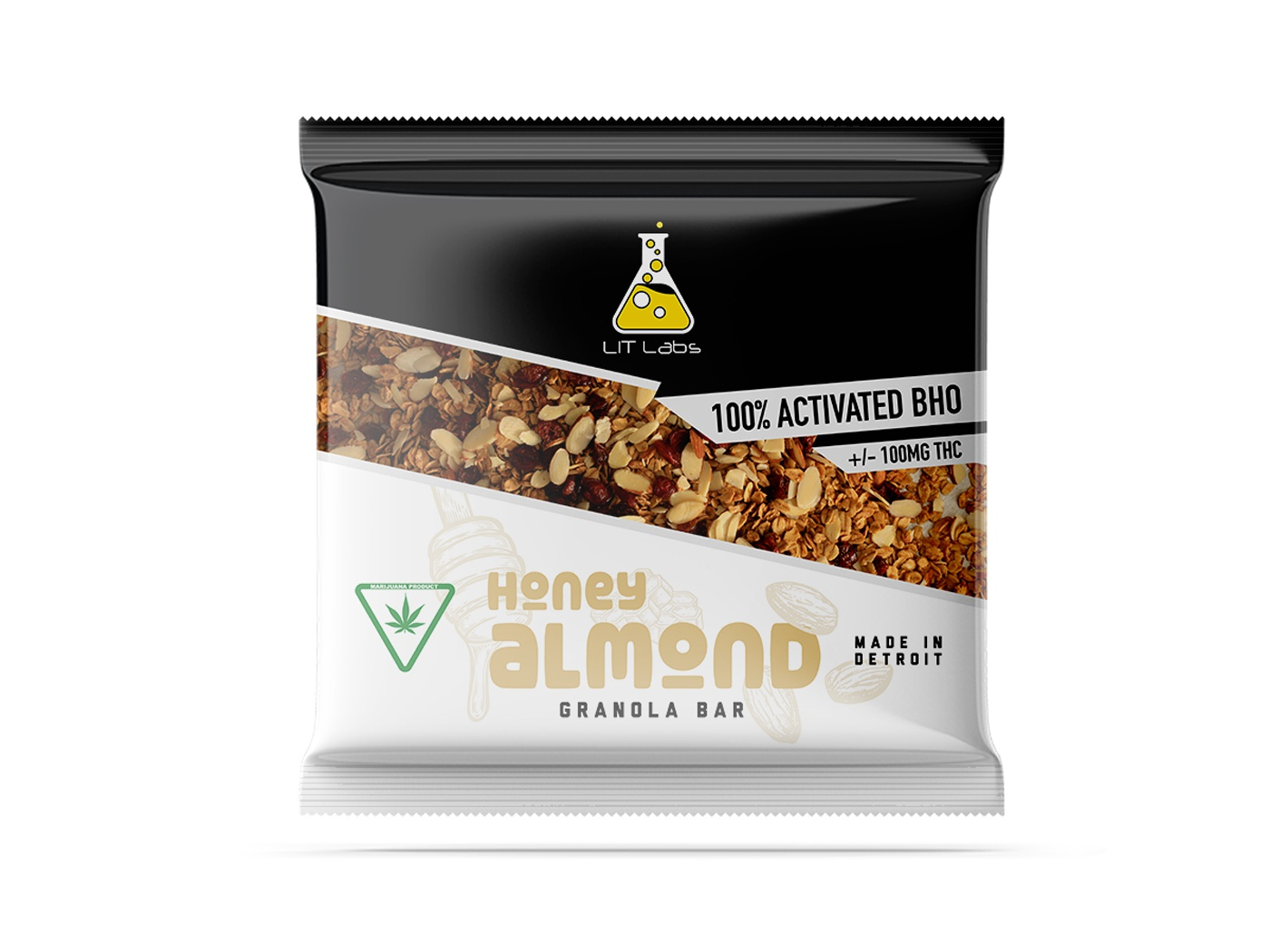 Lit Labs Granola Bar product packaging granola bar thc