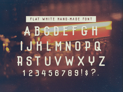 Flatwhite flat white free hand-lettering hand-made type font
