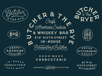 Butcher & The Rye Custom Lettering