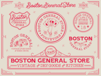 LOGO LOCKUPS FOR BOSTON GENERAL STORE