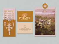OVERLAND COFFEE & GENERAL PRINT chicago coffee logo stationary card illustration hand-lettering branding