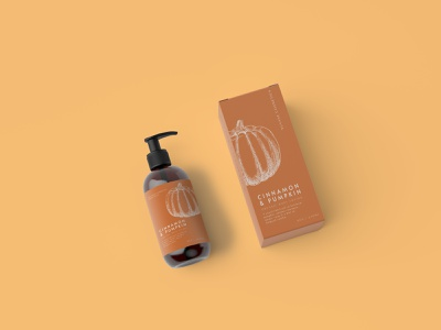 Pumpkin Cosmetics Packaging collateral design brand package design illustration brand designer brand design branding packaging graphic design