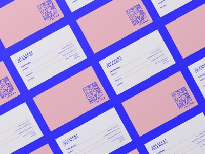 Dessert Island Visual Identity business card design business card instagram brand brand design collateral brand designer illustration packaging design branding graphic design