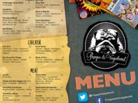 Rogue & Vagabond menu redesign