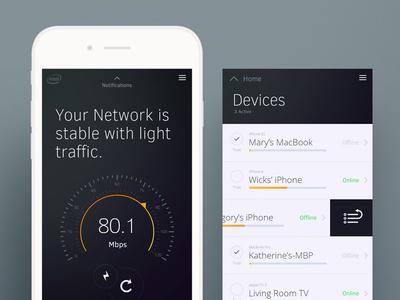 Intel® Freestyle clean dashboard design intel interface network dark