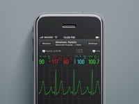 iOS Patient Monitor (old school)