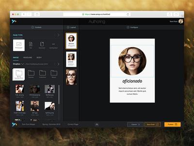 Wrap: Mobile Card-Based Storytelling Platform. user experience narrative ui dark platform authoring dashboard storytelling mobile wrap