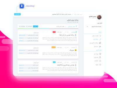 JobsWay user dashboard