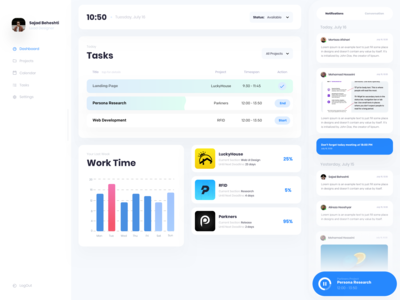 Coleo Project Manager Dashboard