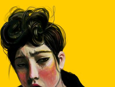 aoki wacom painting yellow aoki